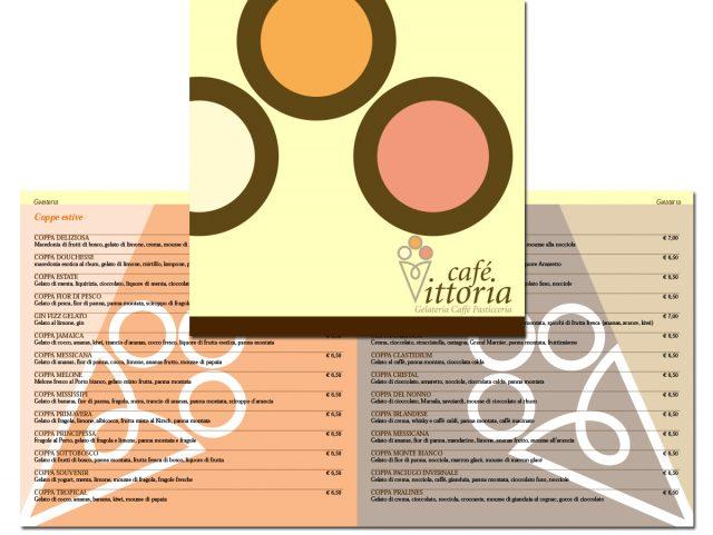 La copertina e una doppia pagina del menù quadrato, im formato 20x20