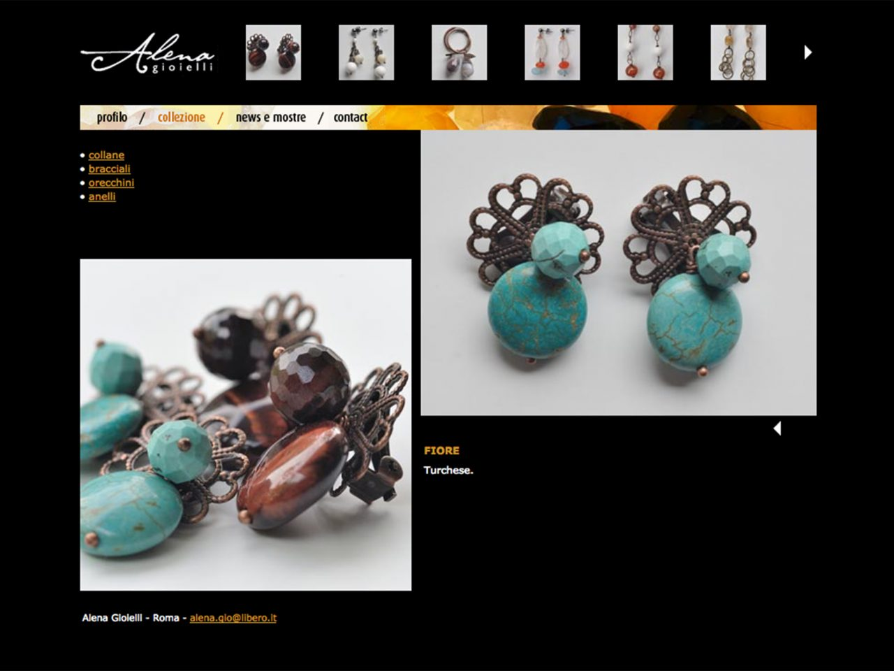 pagina interna sito alena gioielli