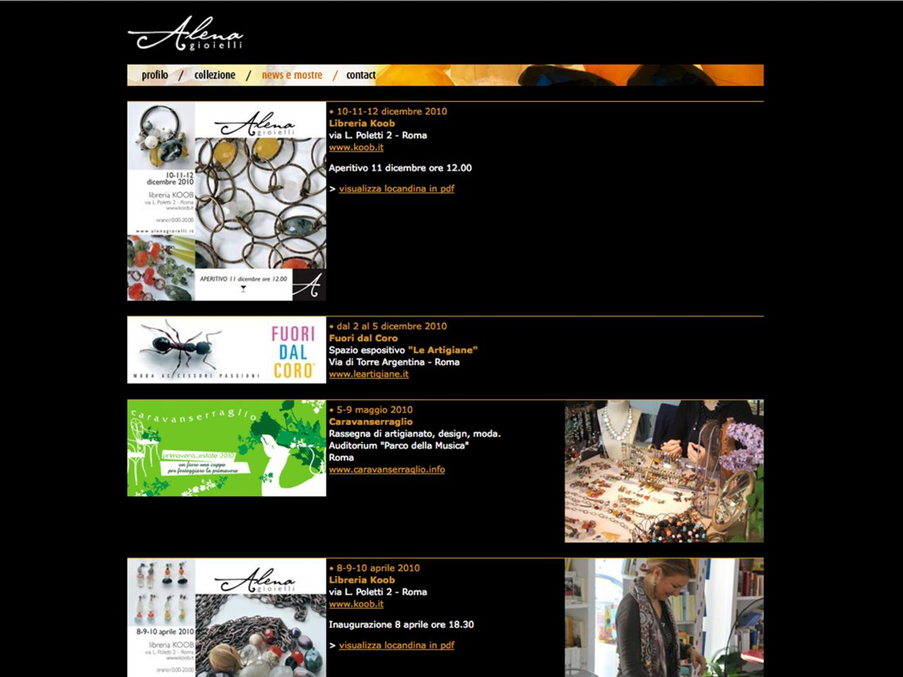 pagina news sito alena gioielli