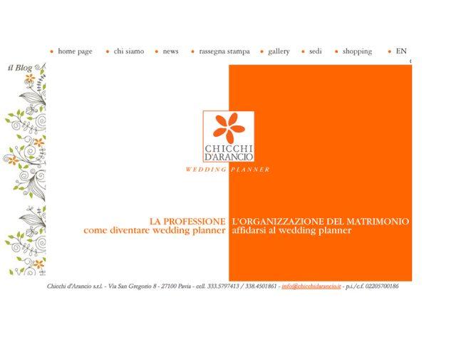 home page per agenzia wedding plannar