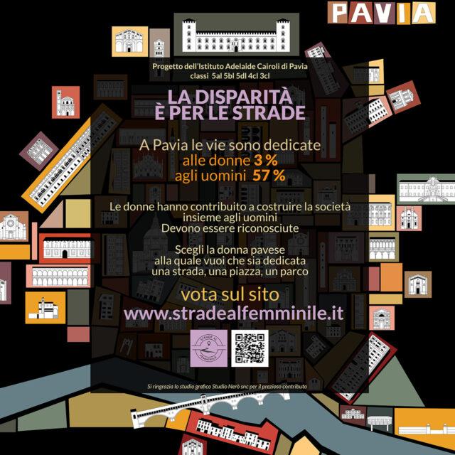 la nostra mappa utilizzata per un lavoro degli studenti dell'istituto Cairoli di Pavia