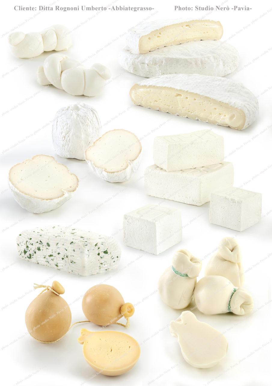 Foto formaggi per catalogo prodotti