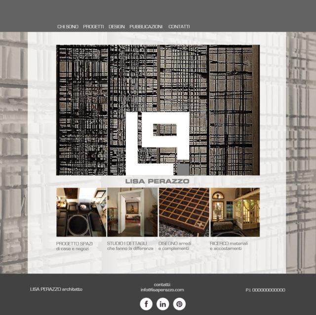 home page per il sito di un architetto