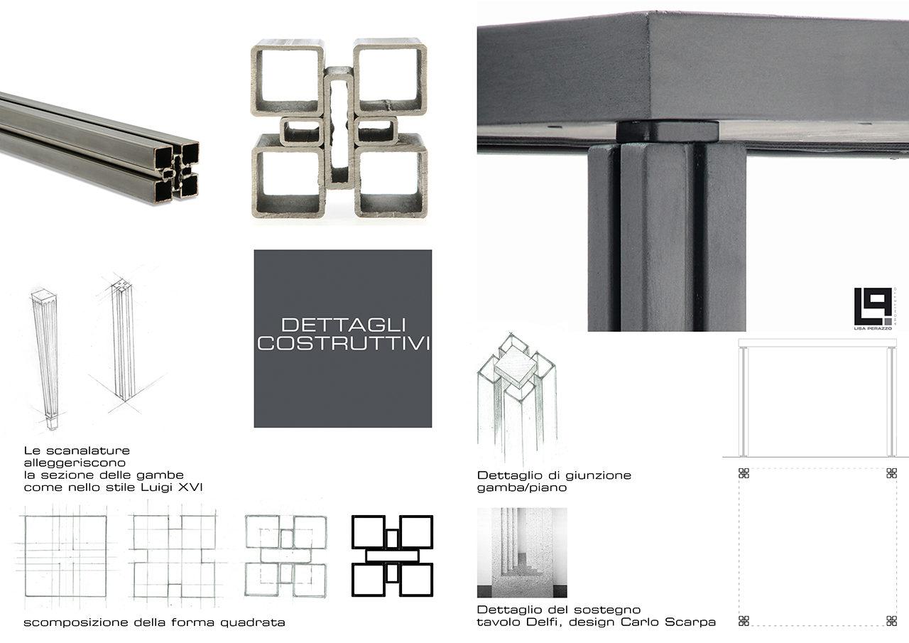 Tavola di presentazione per concorso di architettura
